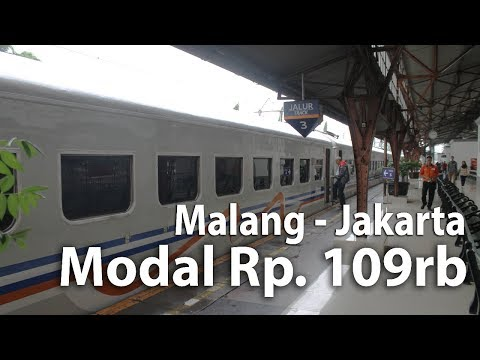 Malang Ke Jakarta Modal 109rb -  Review Transportasi Umum, Kereta Matarmaja