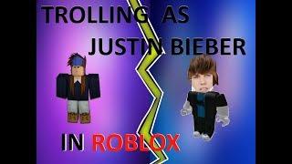 TROLLING AS JUSTIN BIEBER ON RAP BATTLES! #2 [ROBLOX]