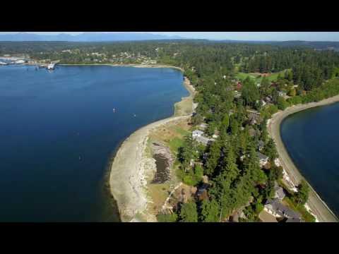 DroneScope Bainbridge Island WA Puget Sound HD version on YouTube channel steve h7 #eggdrp #drone