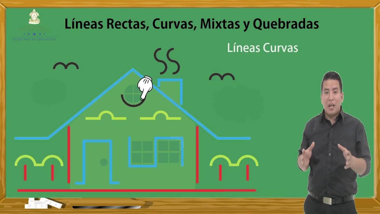 2 Mayo Lineas Rectas Curvas Mixtas Y Quebradas Youtube