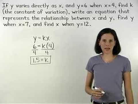 Direct Variation - MathHelp.com - Algebra Help