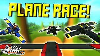 PLANE RACING through CHECKPOINTS!  - Scrap Mechanic Multiplayer Monday! Ep 95