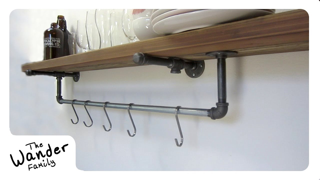 HOW TO BUILD A SUSTAINABLE SHELF W POT RACK