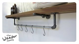 HOW TO BUILD A SUSTAINABLE SHELF w/ POT RACK! The Natural Path