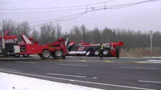 tow truck - towing - accident - rollover - crash - remorquage