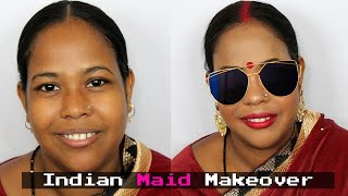 Indian maid makeover | indian festive makeup tutorial