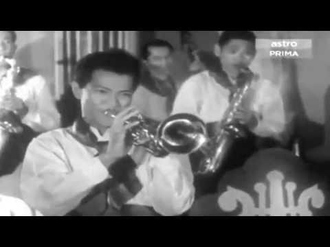 OST Ibu 1953 - P Ramlee meniup trumpet lagu mambo...