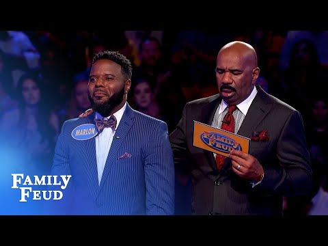 Sharde racks up 155 points! Will Marlon seal the deal? | Family Feud