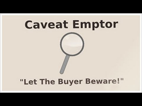 What Does Caveat Emptor Mean?