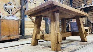 Стол из бревна.DIY A table made of logs. Oak 133 years old. Дуб 133 года