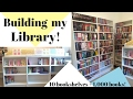 Building my Library!   10 Bookshelves + over 1,000 Books!