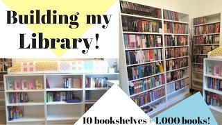Building my Library! | 10 Bookshelves + over 1,000 Books! thumbnail