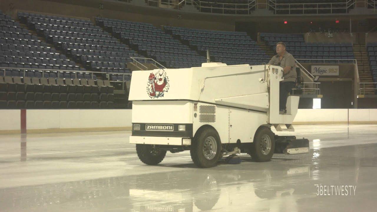 zamboni biloxi getting ice skating rink ready ektar 25mm video