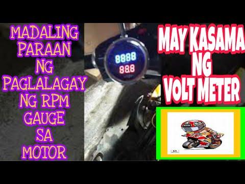 Installation rpm gauge with volt meter