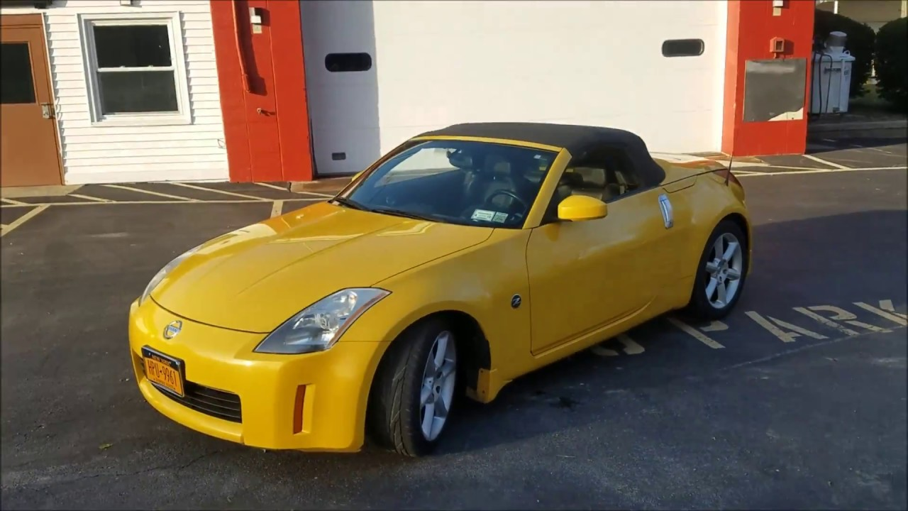 2005 Nissan 350z Roadster Convertible Ultra Yellow Grand Touring