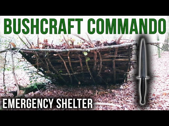 Building An Emergency Shelter | THE BUSHCRAFT COMMANDO