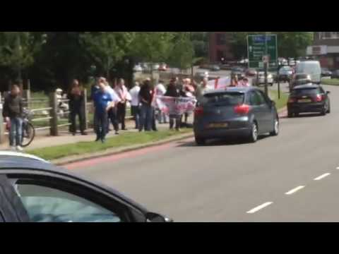 Non Muslims protested in Solihull (Birmingham) that muslims should leave UK