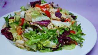 """Салат """"Весенняя лёгкость"""" диетический, полезный и вкусный салат. Салаты рецепты"""