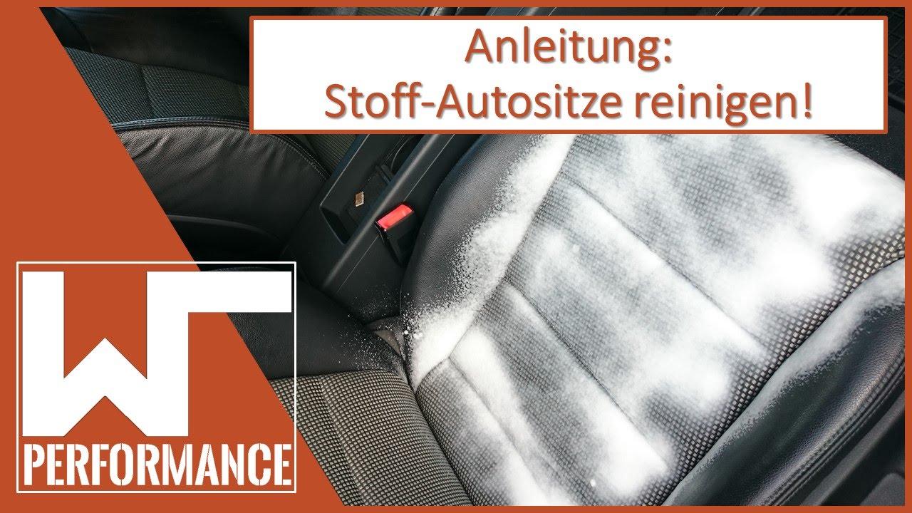 Favorit Autositze reinigen - wr Performance - YouTube VD13