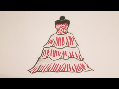 Como Dibujar Un Vestido De Princesa Youtube