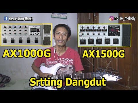 Setting Efek Gitar KORG AX 1500G/AX1000G  DANGDUT