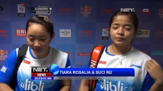 NET24 Debut Pasangan Ganda Putri Tiara Rosalia dan Suci Rizky di Ajang Piala Uber