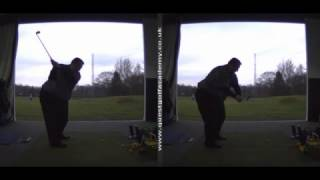 Correcting a big out-to-in golf swing path - Peter Finch at Quest Golf Academy
