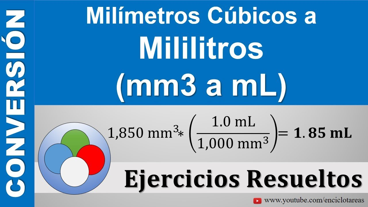 Milimetros Cúbicos A Miliitros Mm3 A Ml Youtube