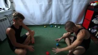 #27. Перекидки, основы (видео уроки по жонглированию от ПГ и МК)