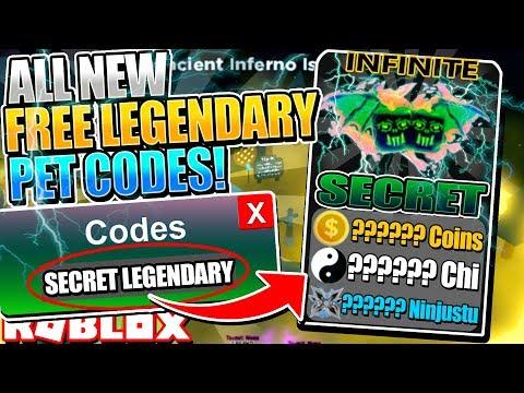All Free Legendary Pet Codes In Ninja Legends Roblox Codes