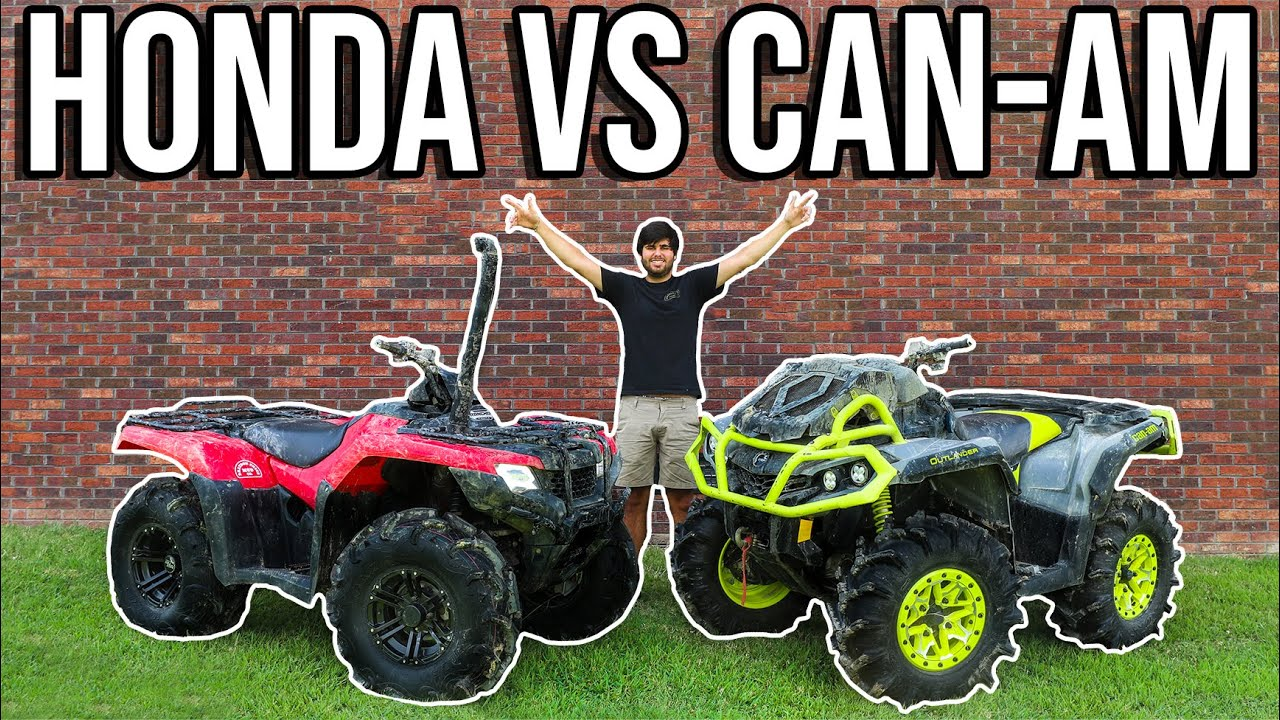 HONDA VS CAN-AM | MUD OFF IN THE SWAMP!
