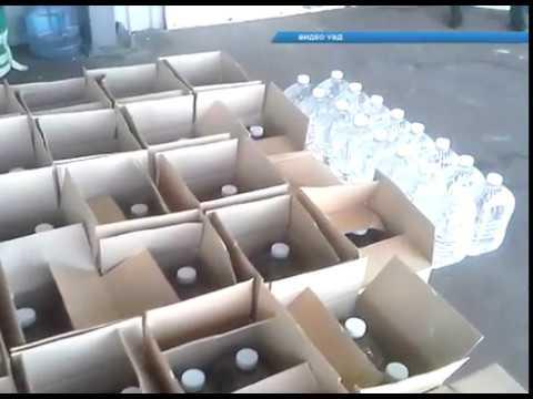 Контрабанда спирта, тонна суррогатной жидкости пытались перевезти в тайнике!