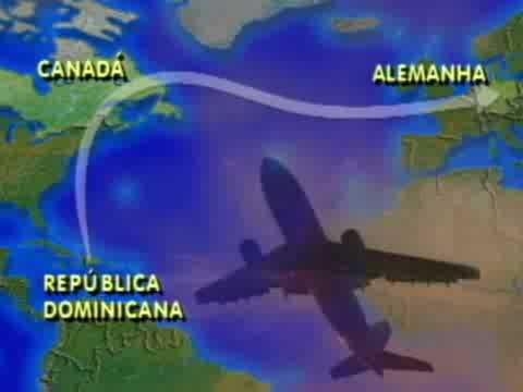 Avião cai no Mar do Caribe (1996)