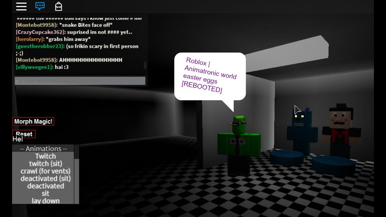 Roblox Animatronic World Easter Eggs Rebooted Youtube