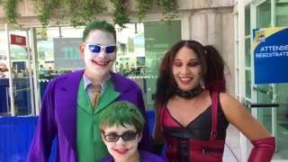 Joker And Harley Quinn Cosplay At San Diego Comic Con 2017 thumbnail