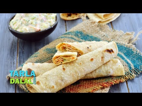 Chapati Roll with Vegetables Recipe, Kids Recipe by Tarla Dalal