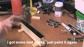 How To Make A Easy Fingerboard Rail |+design A Techdeck|