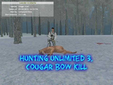 Hunting Unlimited 3  Cougar bow kill