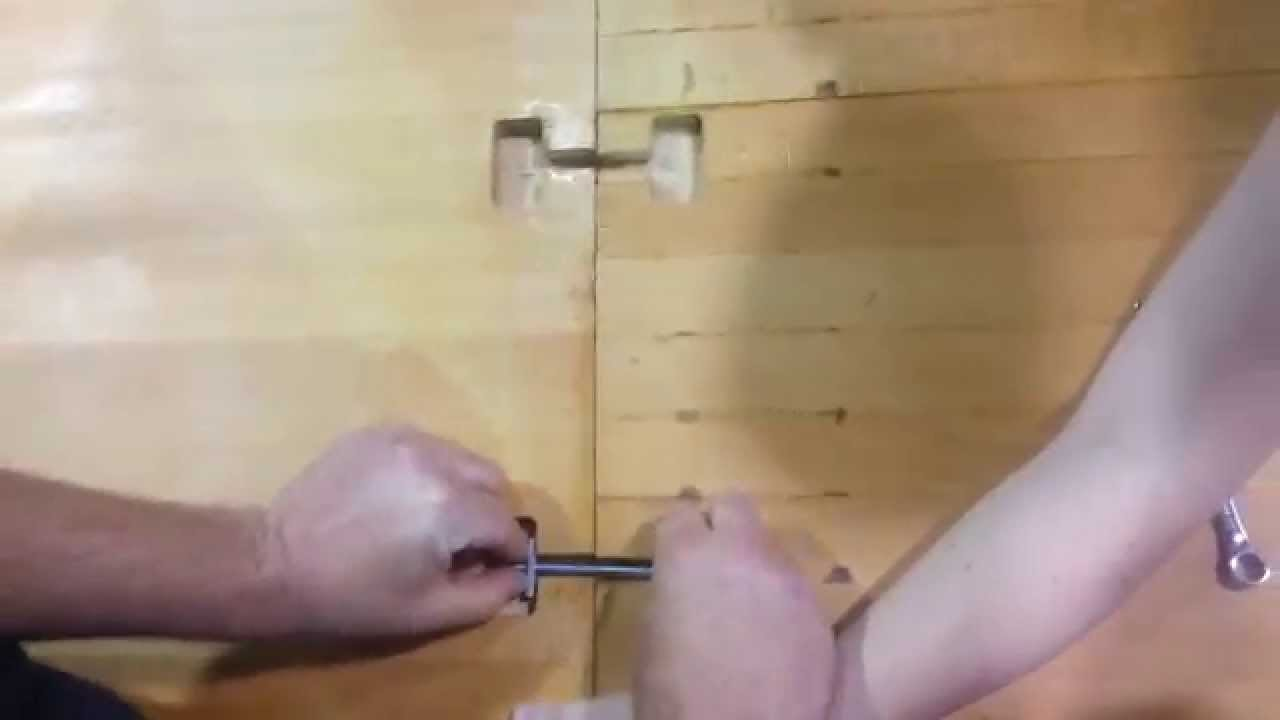 How To Install Toggle Bolts In A Wood Countertop Youtube