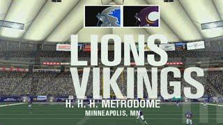 NEED TO BOUNCE BACK - ESPN NFL 2K5 LIONS FRANCHISE VS VIKINGS S1W11 EP11