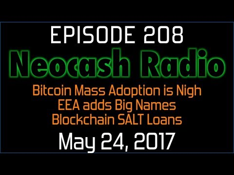 Ep:208 Bitcoin Mass Adoption, EEA adds Big Names, Blockchain SALT Loans