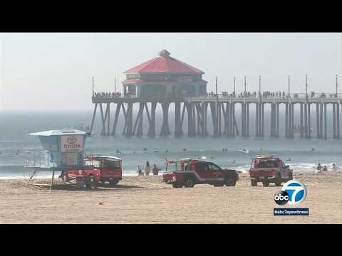 Search underway for body of 18-year-old missing swimmer near Huntington Beach Pier | ABC7
