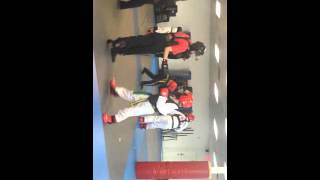 sparring in my karate