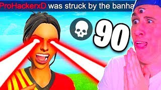 😨HACKER LIVE BANEED IN HALF OF A 😨 FORTNITE Battle Royale *EPIC FAILS*