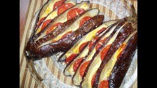 Баклажаны, запеченные с сыром и помидорами. Баклажаны в духовом шкафу. Блюда из баклажан.