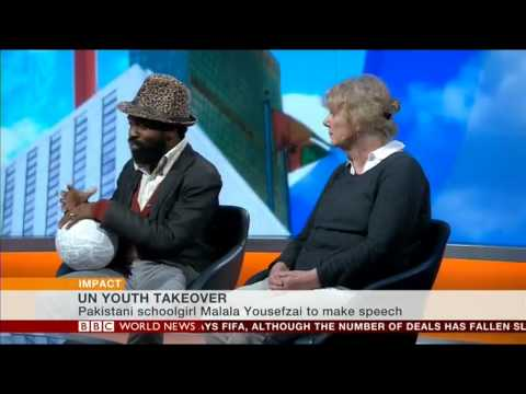 BBC World News UN Malala Day coverage on Impact with Mishal Husain