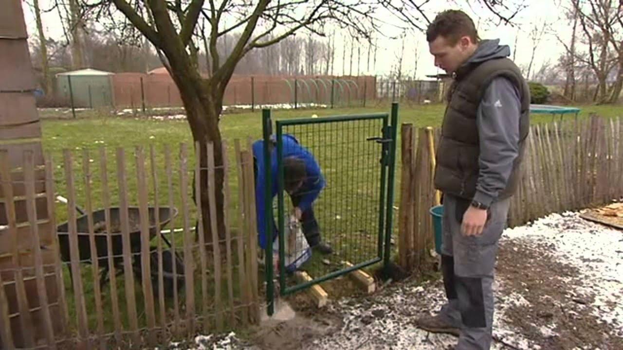 Hekwerk Tuin Gamma : Tuinafsluiting met tuinhek plaatsen tuinaanleg gamma belgië