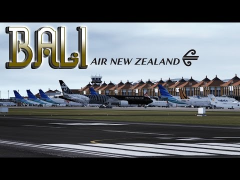 FSX [HD] - Air New Zealand | Boeing 777-300 | Approach to Bali