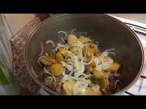 Рецепт Мясо по французски с картофелем и помидорами на