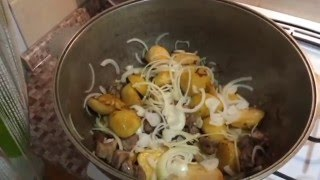Картошка с мясом  рецепт (по узбекски )